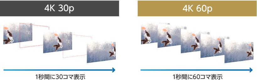 4K解像度で毎秒60コマのなめらかな映像