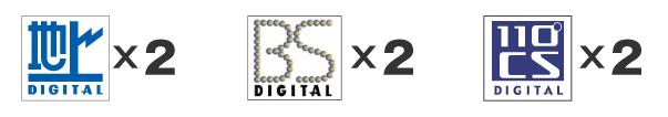 地上デジタル、BS・110度CSデジタル放送用のチューナーをそれぞれ2つ搭載