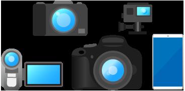 デジタルカメラ・デジタルビデオカメラ・アクションカメラ・スマートフォン