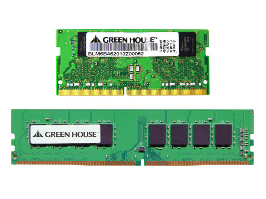 PC4-19200(DDR4 2400MHz)対応ノートパソコン/デスクトップパソコン用メモリー新発売!