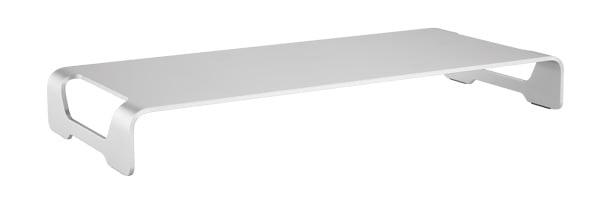 キーボードやマウスを収納できる アルミ製シンプルデザインのディスプレイ台新発売!