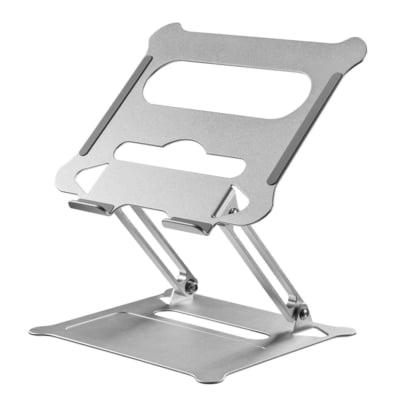 テレワークやオンライン授業を快適にするアルミ合金素材のノートパソコンスタンドを新発売!<br>~金属の質感を活かした高級感のあるデザインと優れた冷却性を提供~