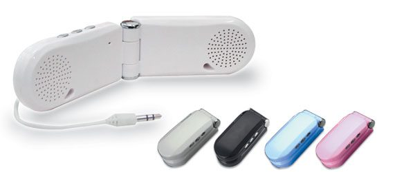 持ち運びカンタン、ケータイ電話型のアンプ内蔵コンパクトスピーカー新発売!