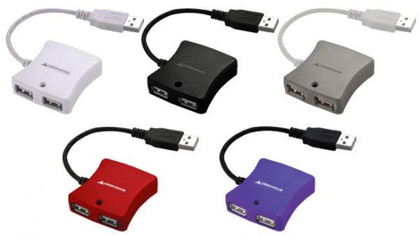 持ち運びに最適!超小型4ポートUSB HUB、選べる5色を揃え新発売!