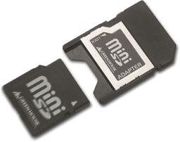 SDカードスロット搭載機器でminiSDカードが読める、「miniSDアダプタ」新発売!