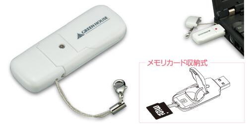 ケータイの買い替えで余ったminiSDカードを有効活用!miniSDに対応した収納式USBカードリーダ新発売!