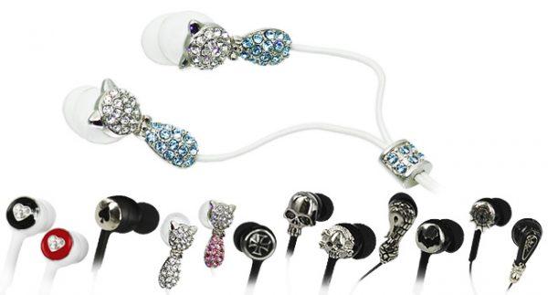 耳元を個性的に飾る「ラグジュアリーイヤホン」13種類が新発売