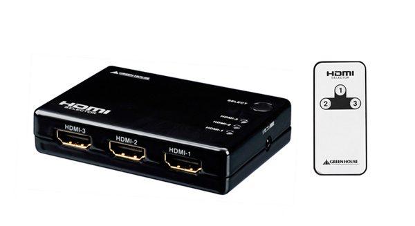 3つのHDMI機器を切り替えられる!3ポートコンパクトHDMIセレクタ新発売