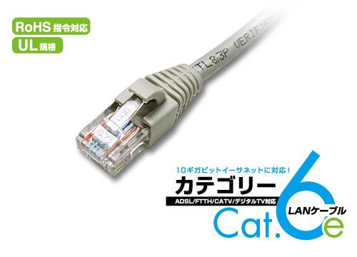高速!10ギガビット対応のエンハンスドカテゴリー6 LANケーブル新登場!!