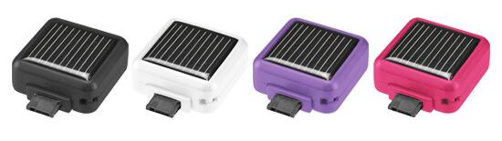 太陽光でケータイ充電!ケータイ用ソーラーチャージャー新発売
