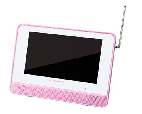 お風呂でテレビやDVDを楽しめる!防水ポータブルDVDプレーヤーにピンクが追加
