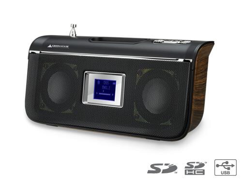 音楽再生&FMラジオ機能付き木目調スピーカーが新発売!