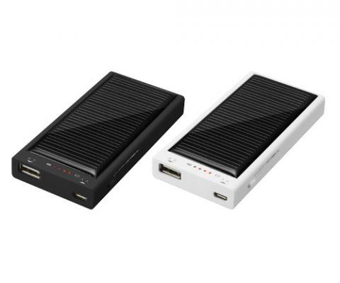太陽光でスマホを充電!2000mAhソーラーチャージャー新発売