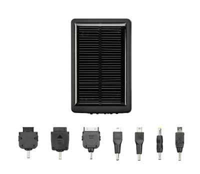 太陽光で充電できる!大容量2000mAhバッテリ搭載のマルチソーラーチャージャー新発売