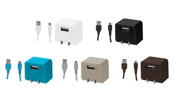 オフィスでのスマホ充電に!ケーブル付きAC充電器が新発売