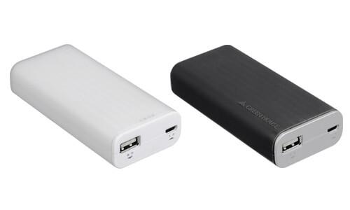 スマホ約2回分をフル充電、持ちやすいシリコングリップのモバイルバッテリ新発売!