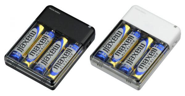 外出先で緊急充電!乾電池式モバイルバッテリ新発売