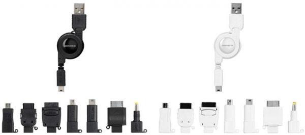 スマートフォンや各種携帯ゲーム機、携帯電話に対応したマルチUSB充電ケーブルが新発売!