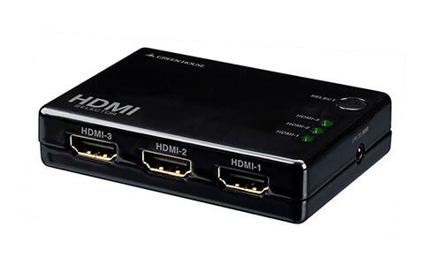 3つのHDMI機器を切り替えられる!3ポートコンパクトHDMIセレクタ手動切り替えモデル新発売