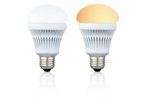 消費電力7.7W、60W相当のLED電球「ヒカリオ」2種類を新発売!