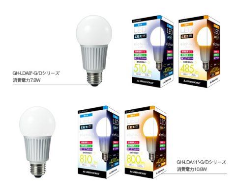 LED照明ブランド「elchica(エルチカ)」より広配光タイプのLED電球が新発売!