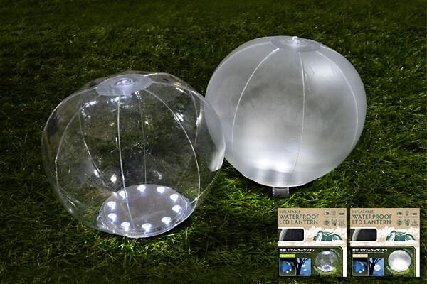 ビーチボールのようにふくらませる防水LEDソーラーランタン新発売!