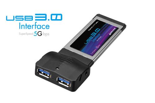 最大転送速度5Gbps USB3.0対応2ポート増設 ExpressCard新発売!
