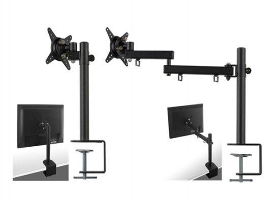 机を広々使える、ディスプレイ位置を調整可能な液晶アーム2モデル新発売!