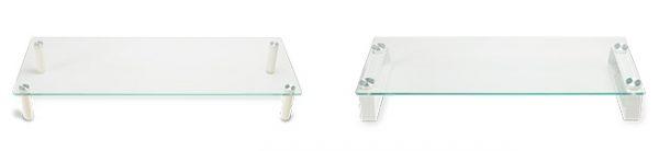 キーボードやマウスを収納できる強化ガラスディスプレイ台2タイプ新発売!