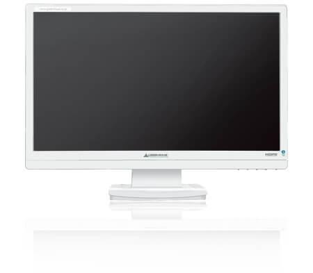 高コントラスト100,000:1、21.5型ワイド液晶ディスプレイにホワイトモデル新登場!