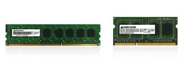 4GbitDRAMを塔載したDDR3 1600MHz 4GBメモリーモジュール新発売!