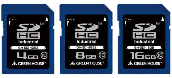 組み込み機器で幅広く使えるインダストリアル(工業用)SDメモリーカードの高速モデル4〜16GBを新発売!
