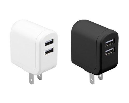 iPhoneやスマートフォンを同時に2台まで充電できるUSBポート付ACアダプタが新発売!