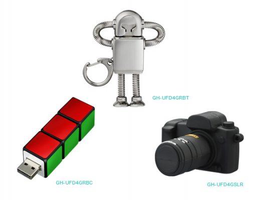 ロボット、キューブ、一眼レフカメラ形バラエティUSBメモリーを新発売!