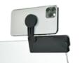 ノートPCにスマホを簡単装着、<br>スマートフォンホルダーを新発売!
