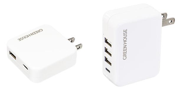 USB Type-Cポートを搭載した<br>2ポート/4ポート AC充電器にホワイトモデル追加!