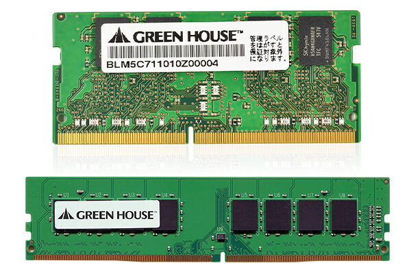 デスクトップパソコン用とノートパソコン用の <br>PC4-25600(DDR4 3200MHz)対応メモリーを新発売!
