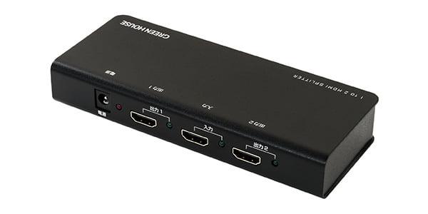 1つのHDMI機器の画像を2つのテレビに映しだす4K2K 60fpsに対応したHDMIスプリッター新発売!