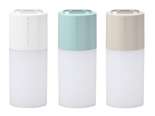 パワフルなWミストの充電式ポータブル加湿器が新発売