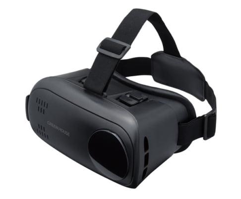 """スマートフォンをセットすることで<br class=""""pc"""">VRコンテンツを楽しめる<br class=""""pc"""">シンプルなVRヘッドセット新発売!"""